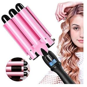 Three Barrel Curling iron 25 mm hair wand